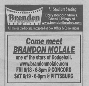 Brandon Molale at Brenden Conta Costa Times